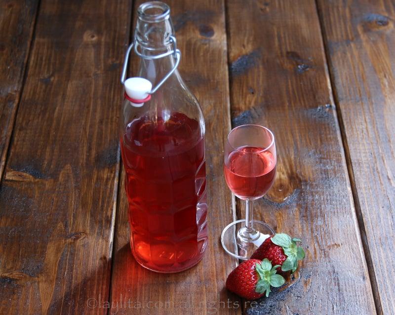 Tequila com infusão de morango