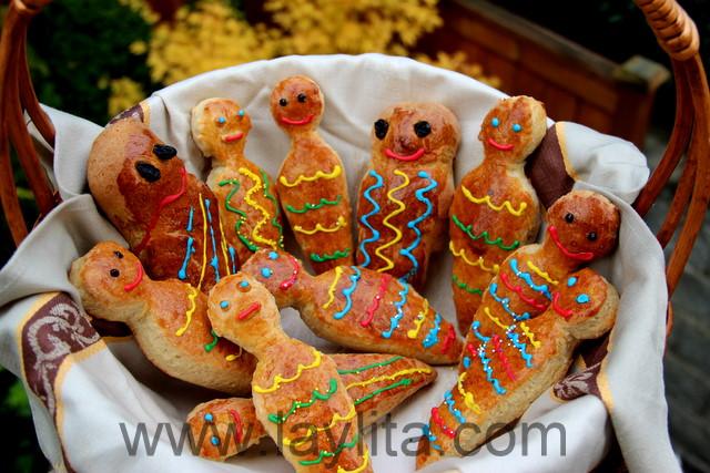 Guaguas de pan tipicas do Equador