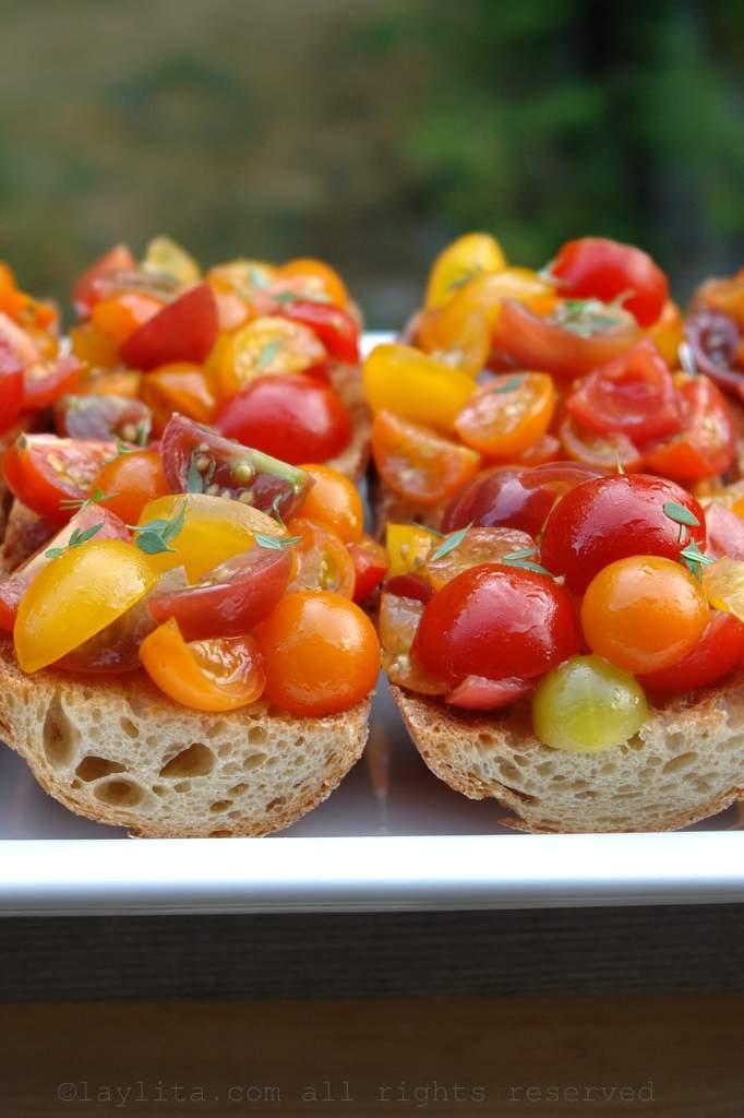Receita facil de bruschetta de tomate