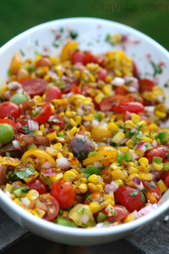 Mexido de milho com tomate