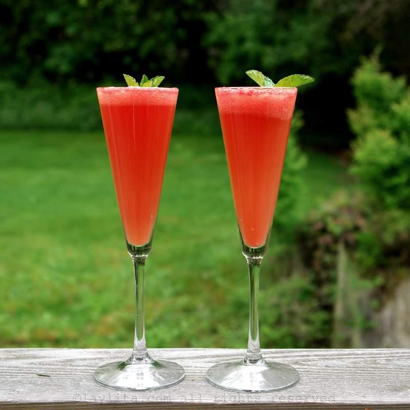 Receita de mimosa de melancia