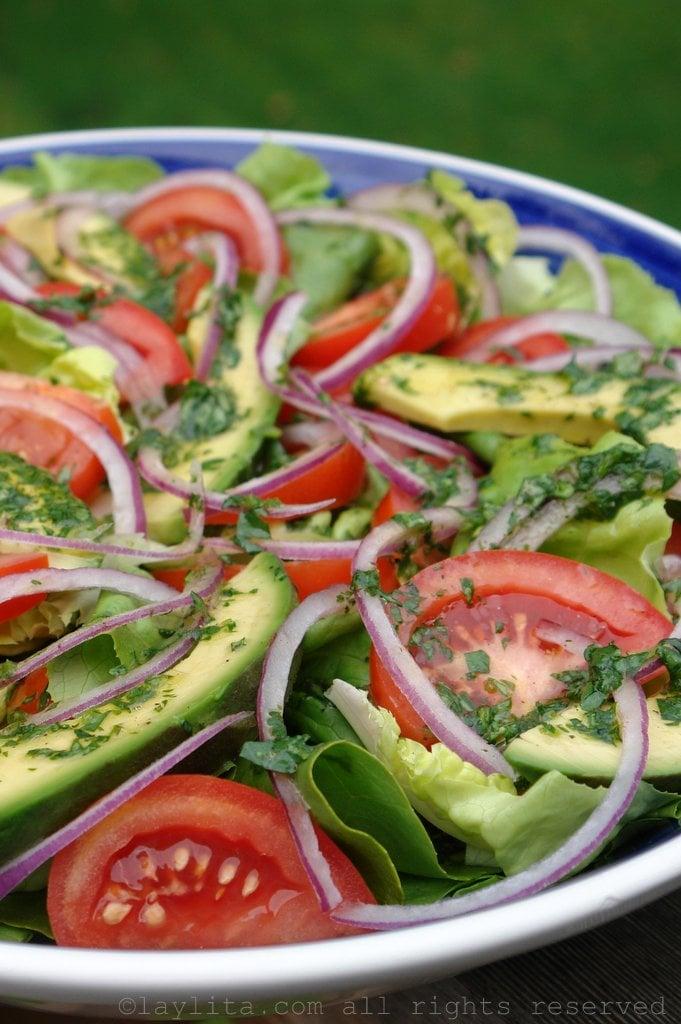 Salada mista refrescante