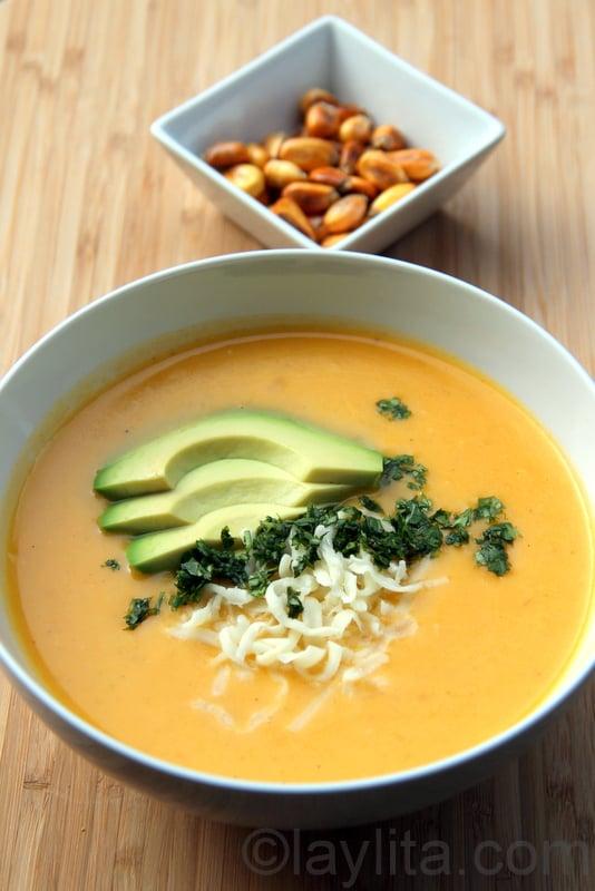 Receita sopa de batata e queijo
