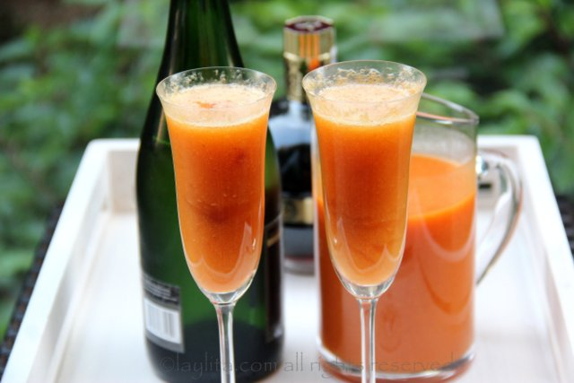 Receita do coquetel Bellini