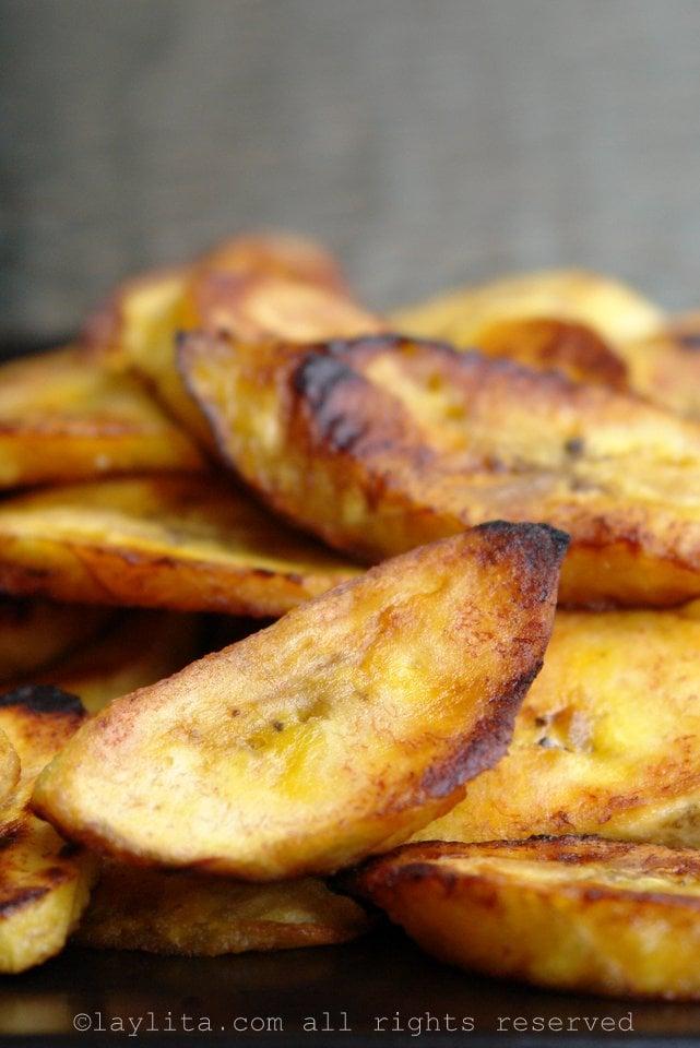 Receita fácil de bananas fritas