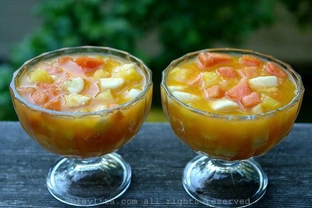 Salada de Frutas Equatoriana Come y Bebe