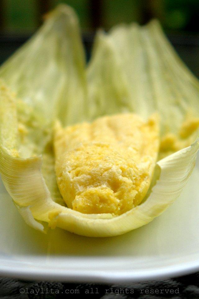Humita - Pamonha salgada típica do Equador