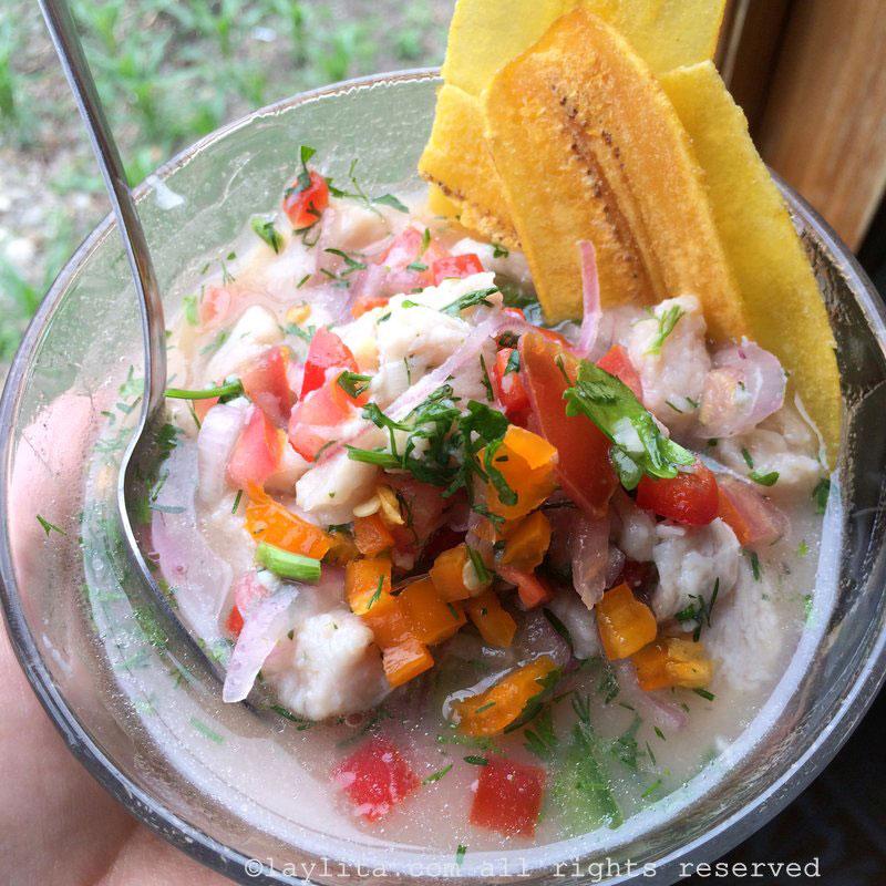 Ceviche de peixe equatoriano