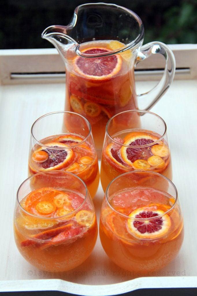 Sangria de laranja com vinho