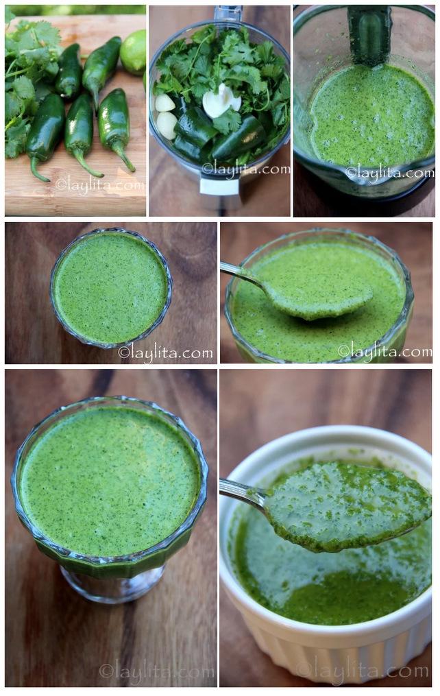 Modo de preparar molho de jalapeño e coentro