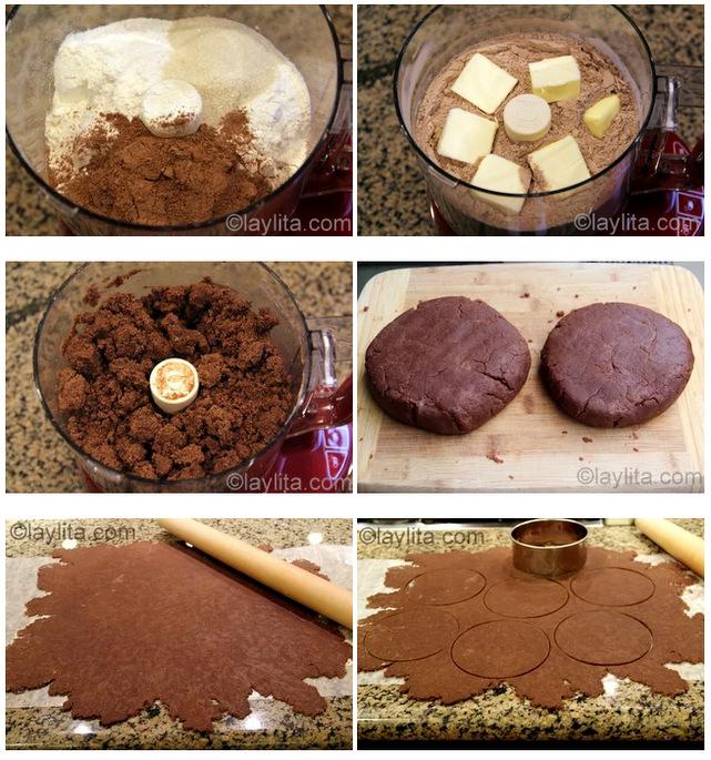 Preparação de massa de empanada de chocolate