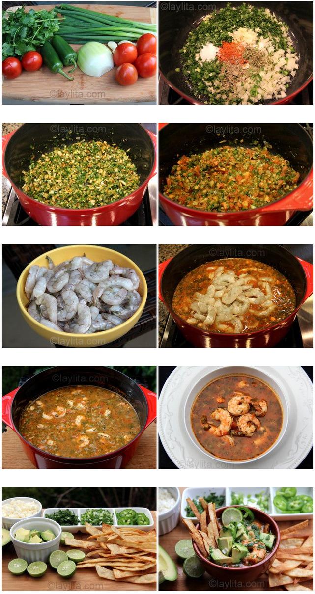 Receita fácil de sopa de camarão