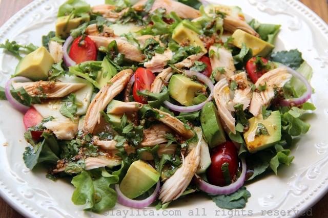 Salada de frango caseira