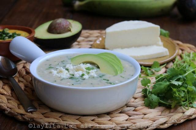 Sopa da banana verde {Repe lojano}