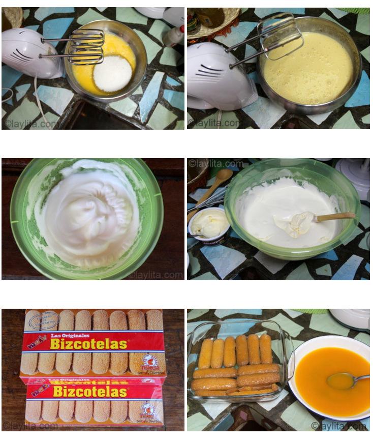 Preparação de Tiramisu de Maracujá