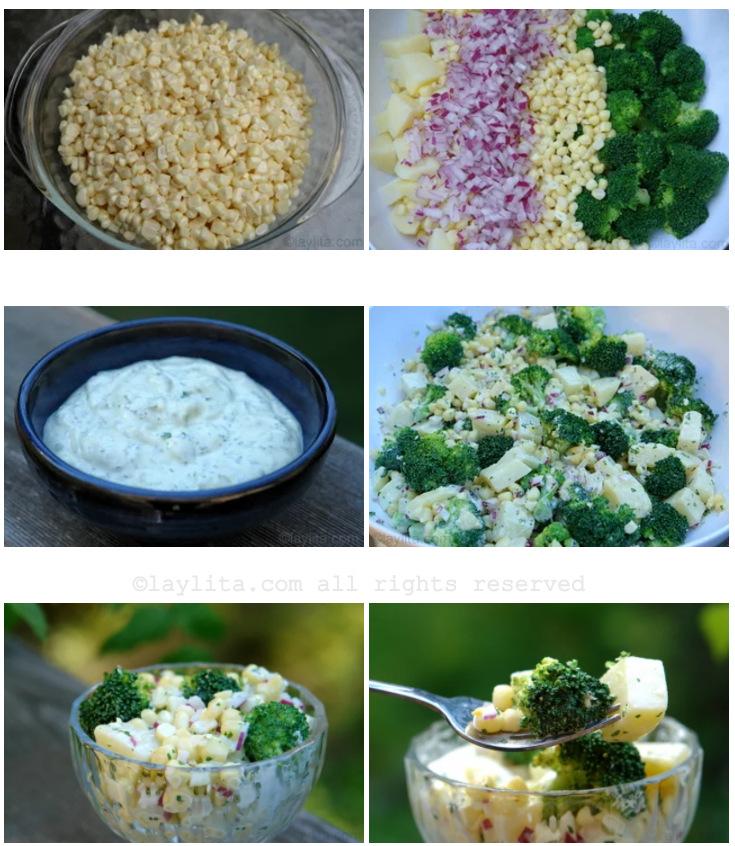 Modo de preparar ensalada de milho com batatas