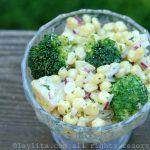 Salada de Milho com Batatas e Brócoli