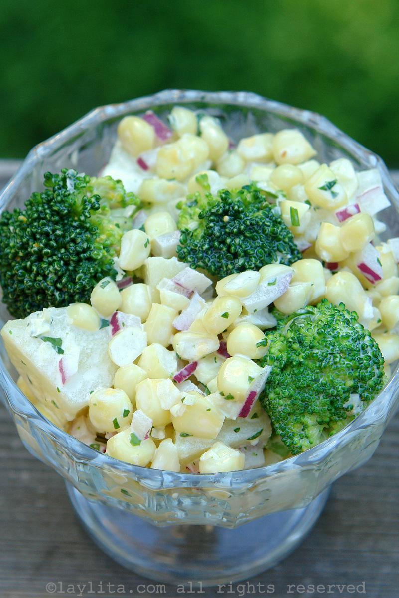 Salada de Milho com Batatas
