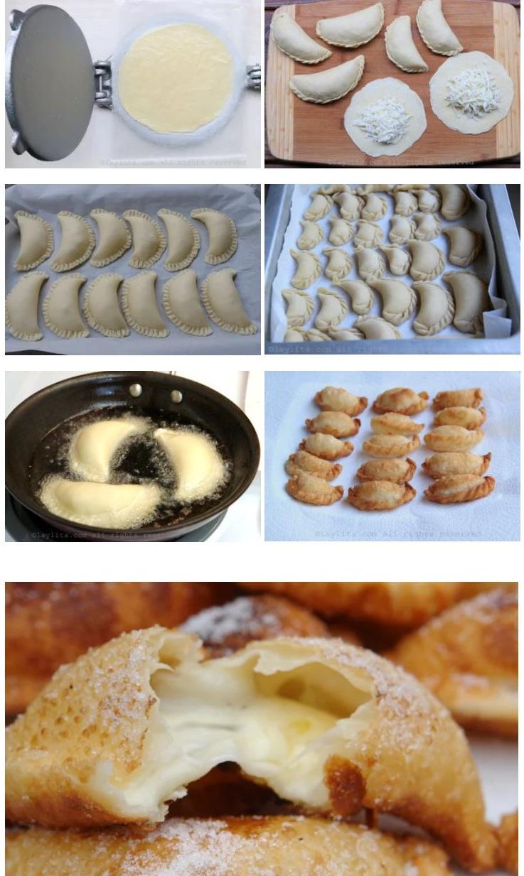 Como fazer pastel de queijo ou empanadas fritas de queijo {empanadas de viento}.