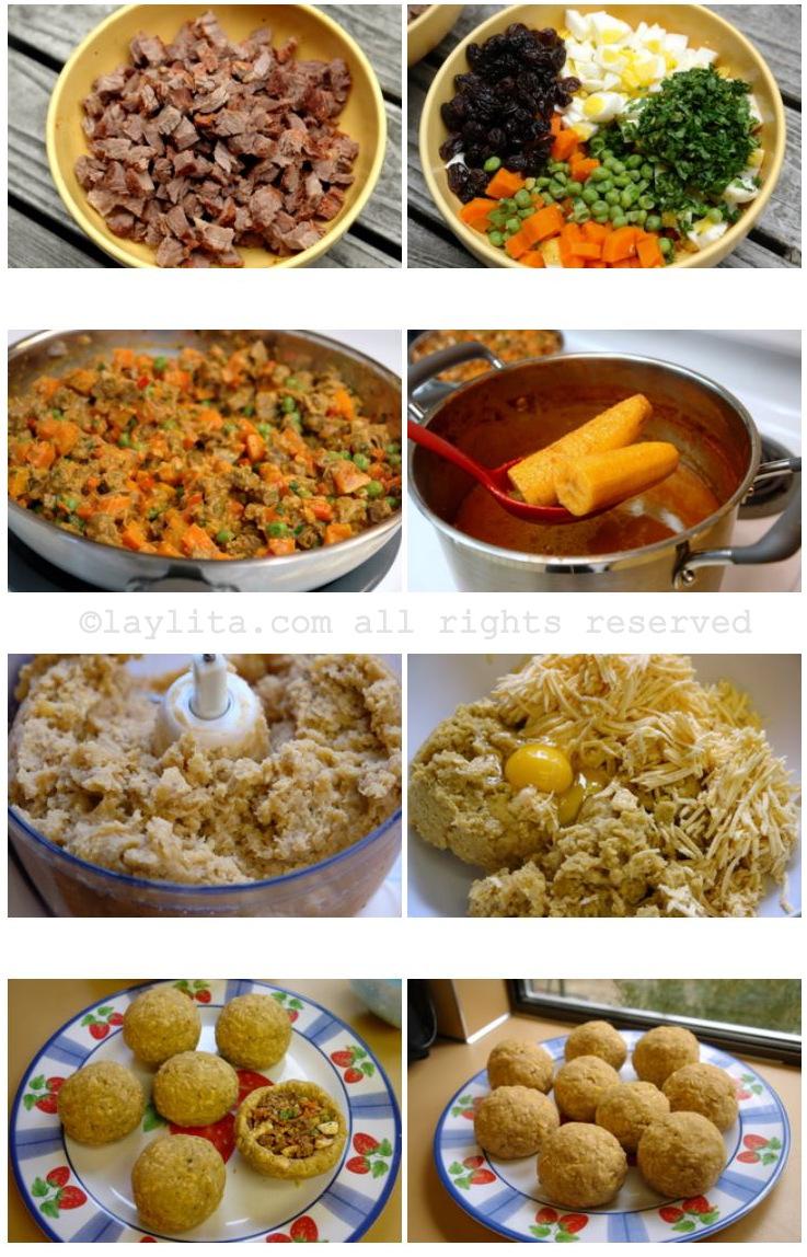 Modo de preparar sopa de bolas de banana-da-terra verde