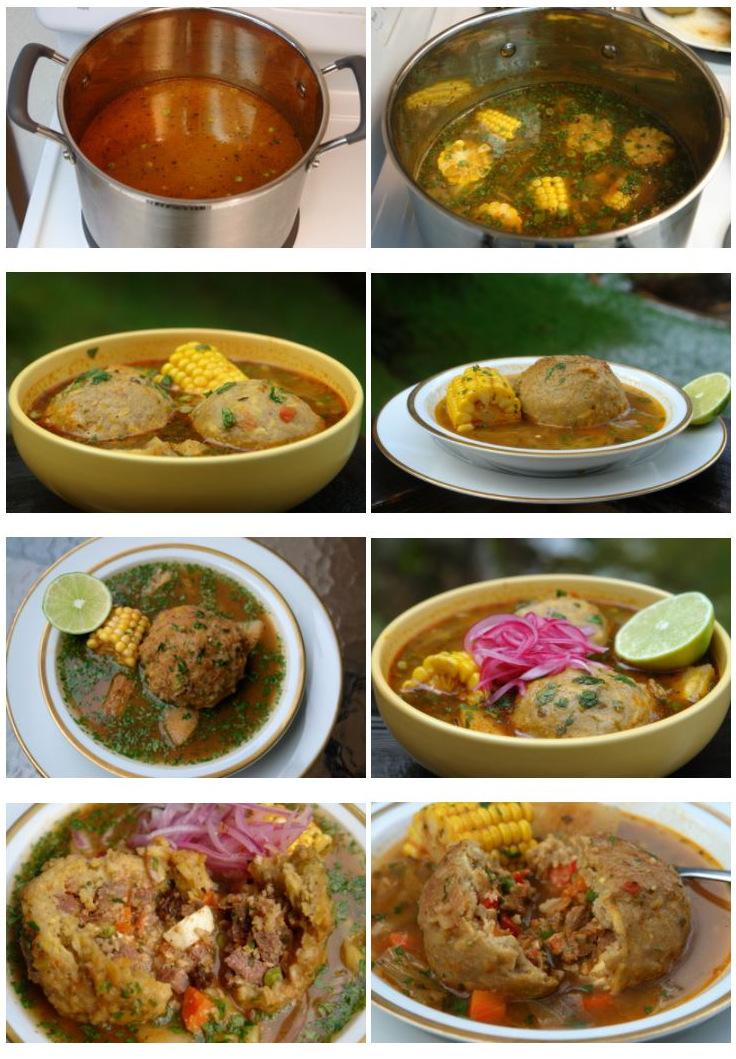Sopa equatoriana típica - caldo de bolas