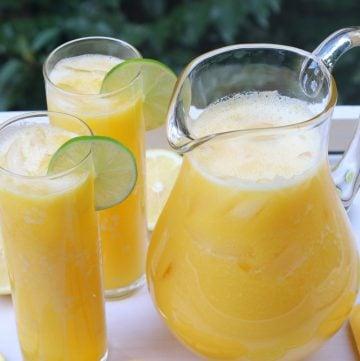 Limonada de manga caseira