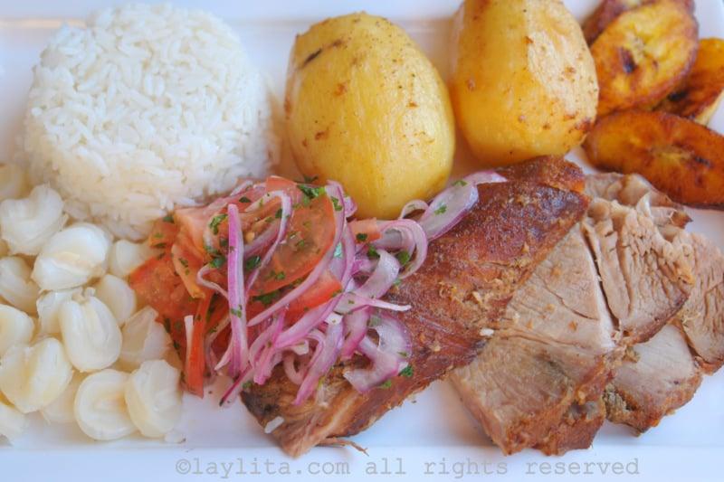 Carne de porco assado
