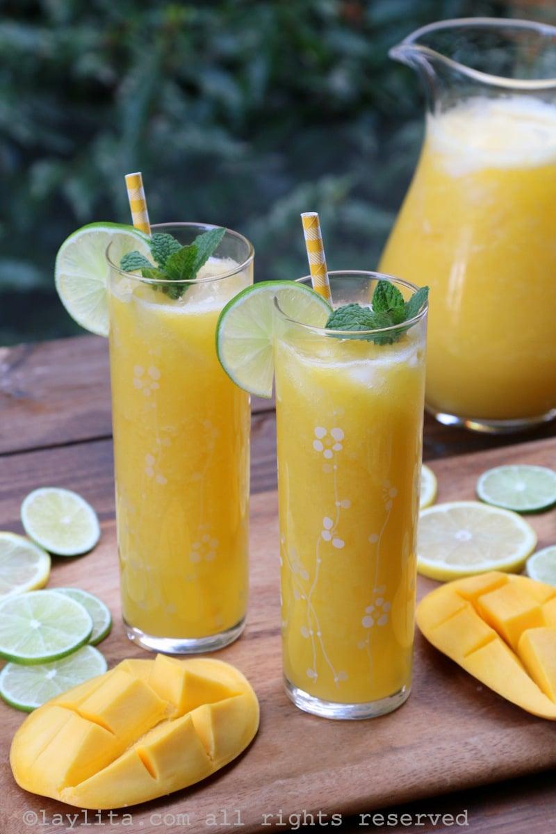 Suco de manga e limão