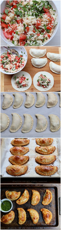 Como fazer empanadas caprese