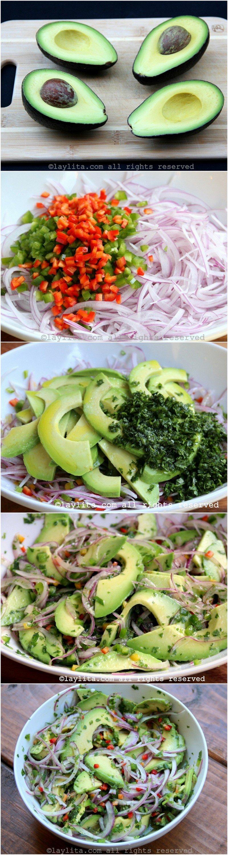 Como fazer salada de abacate