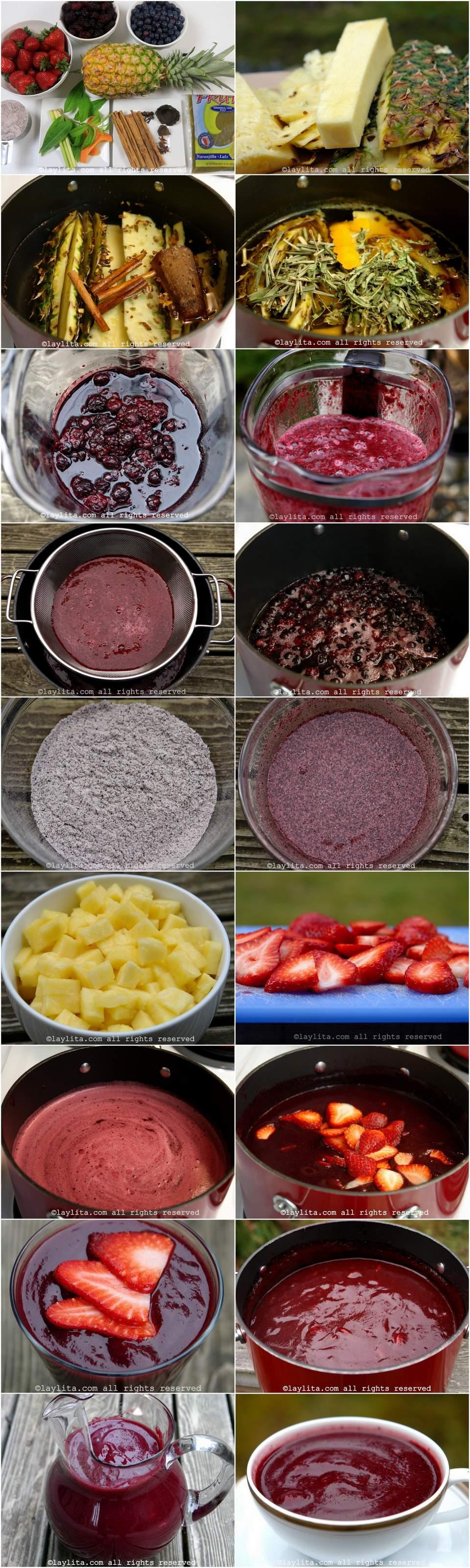 Modo de preparar colada morada equatoriana