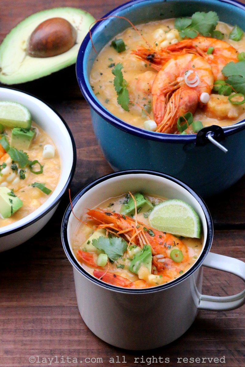 Chowder ou Creme de camarão e milho