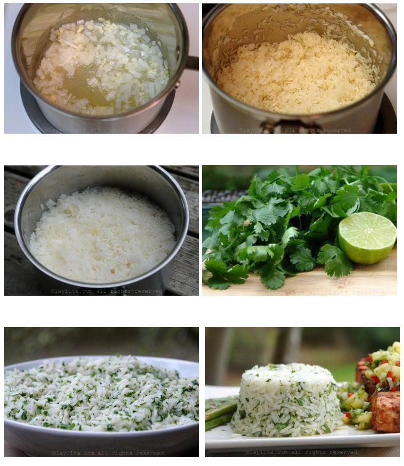 Como fazer arroz com coentro e limão