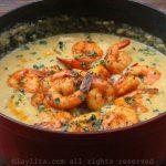 Creme ou sopa de milho e camarão