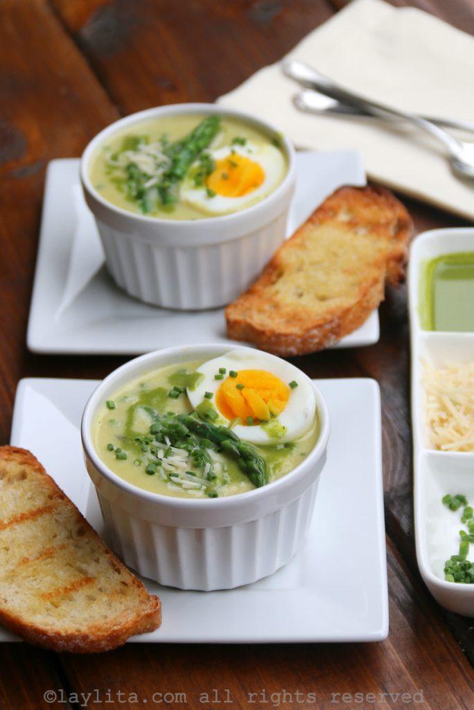 Sopa de aspargos - receita facil