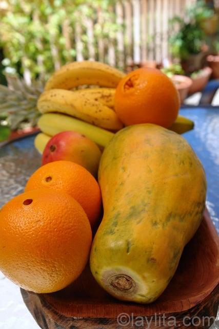 Frutas tropicales para preparar helados de frutas
