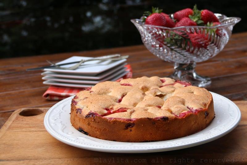 Receta facil para pastel de fresa o frutilla