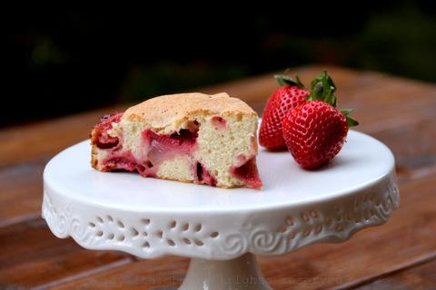 Pastel o torta de fresas