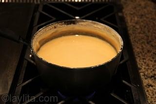La leche se empieza a reducir despues de 2 horas