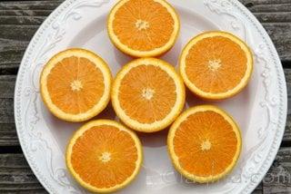 Naranjas para el coctel mimosa de sandia