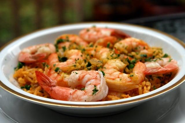 Como Preparar La Receta de arroz con Camarones