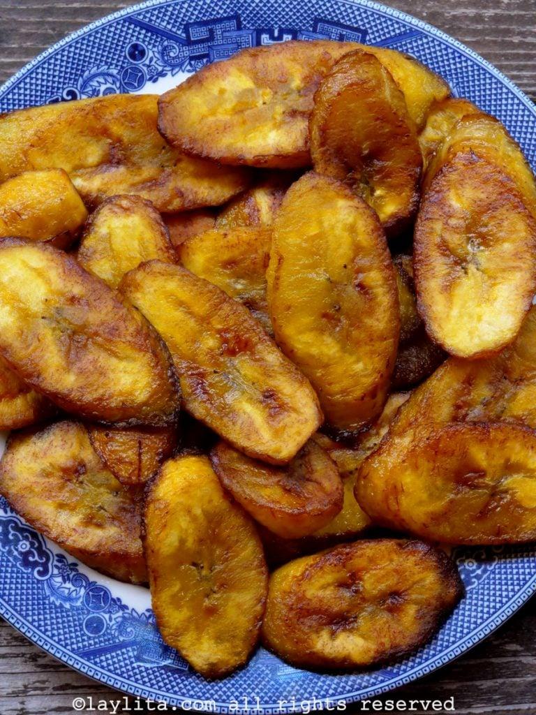 Como hacer plátanos maduros fritos