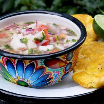 Receta del ceviche de pescado ecuatoriano