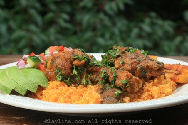 Receta del seco de pollo o gallina
