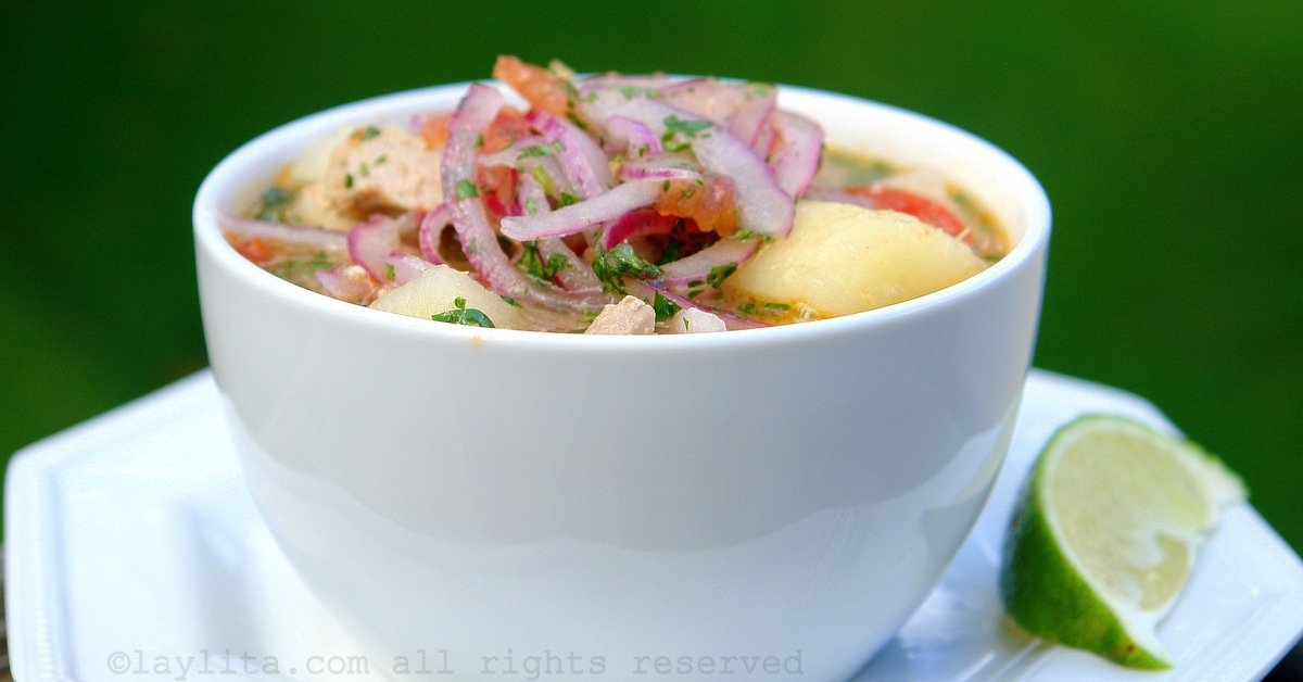 Recipe for Ecuadorian encebollado fish soup