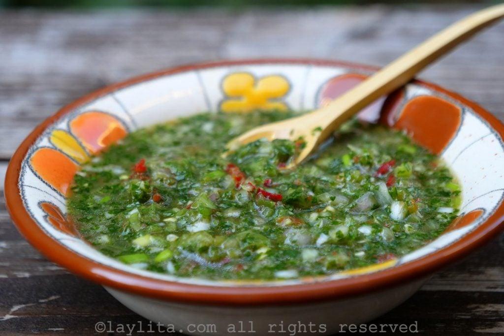 Receta del ají criollo ecuatoriano