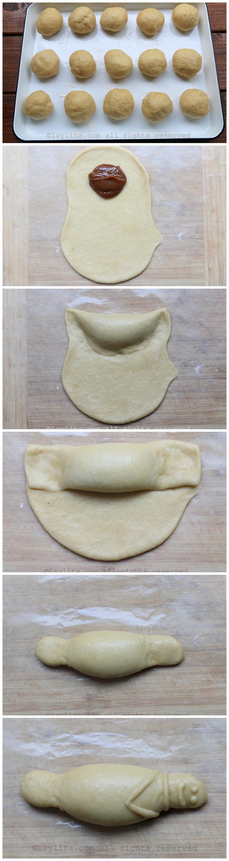 Como hacer guaguas de pan con relleno