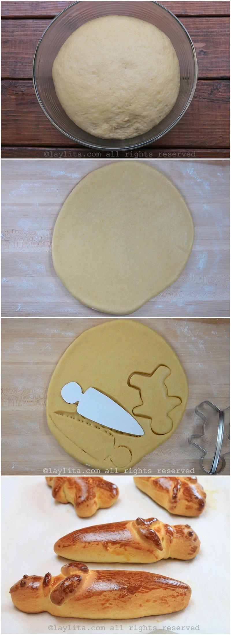 Método sencillo para formar las figuras o guaguas de pan
