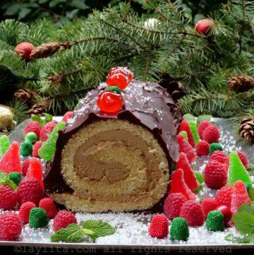 Receta del Tronco Navideño - Tronco de Navidad o Buche de Noel