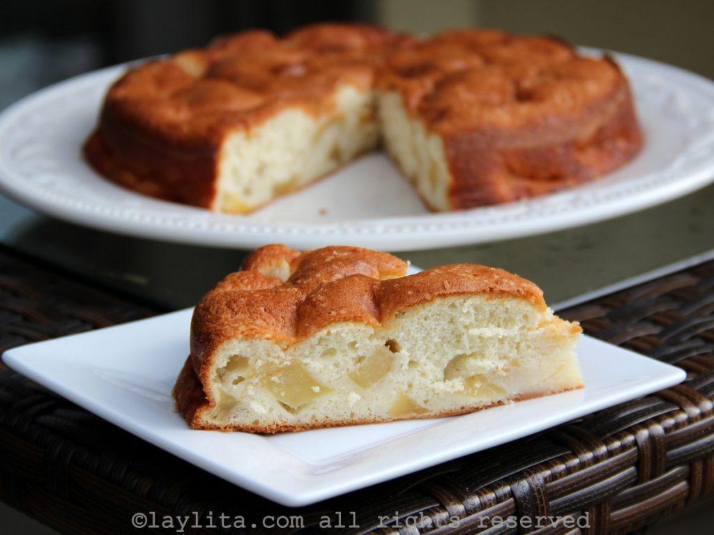 Receta del pastel de manzana francés
